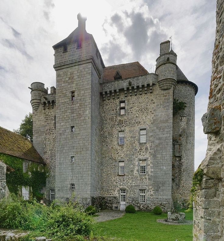 Chateau de Villemonteix centre, France