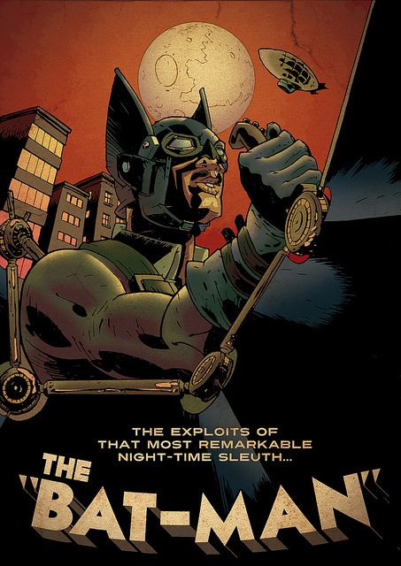 Steampunk Batman, by Franco Stagni