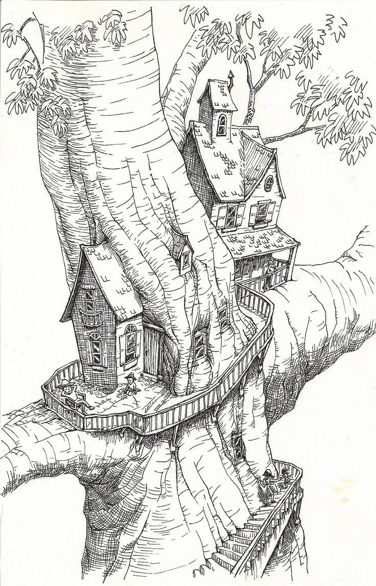 quirky houses coloring pages - photo#32