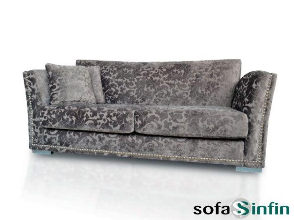 Sofá clásico de 3 y 2 plazas modelo Fraganzza fabricado por De Paula en Sofassinfin.es