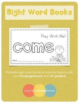 Here is a sight word book for you to practice fluency with your Kindergarteners or 1st Graders!Includes:- 10 page easy reader book- Sight Word practice page within the bookEnjoy!