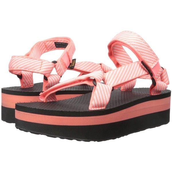 Teva Flatform Universal Candy Stripe Coral Women S