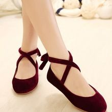 Estilo de moda del ante del cuero genuino de la bailarina Dolly mujer los planos Ballets zapatos zapatos mocasines princesa cómoda suela zapatos del Lolita(China (Mainland))