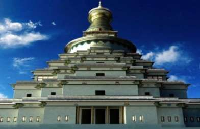 Bendigo Tourism - The Great Stupa of Universal Compassion. Victoria.  Australia