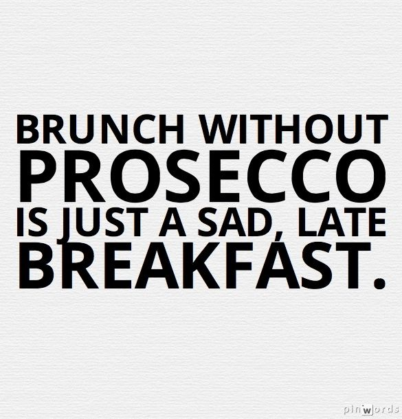 Prosecco is a must with brunch! #wine