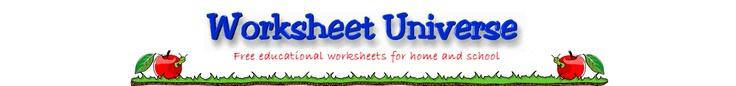 Worksheet Universe. TONS of worksheets, printables, homeschool helps.