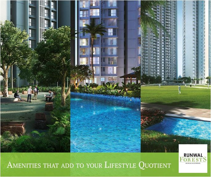 Enjoy a plethora of carefully integrated premium amenities at Runwal Forests such as multiple swimming pools, a forest trail, a zen garden and much more.