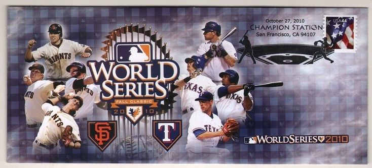 2010 World Series San Francisco Giants & Texas Rangers FDC Envelope Very Rare  #sfgiants #SanFranciscoGiants