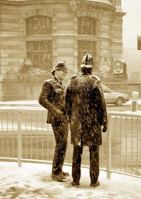 The City of London Snow Storm