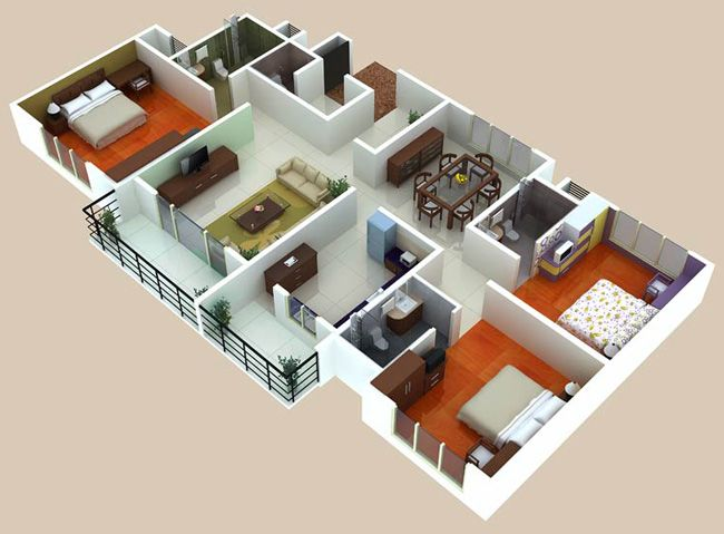 Apartment Room Plan 274 best house /apartment plans images on pinterest | architecture