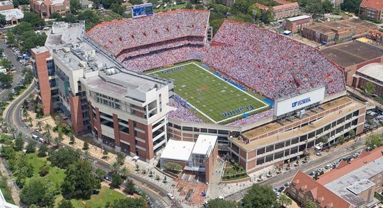 Ben Hill Griffin Stadium at Florida Field.  Right across the street (bottom right of photo) is Weil Hall, where I spent many a day and night earning my BS in CE.