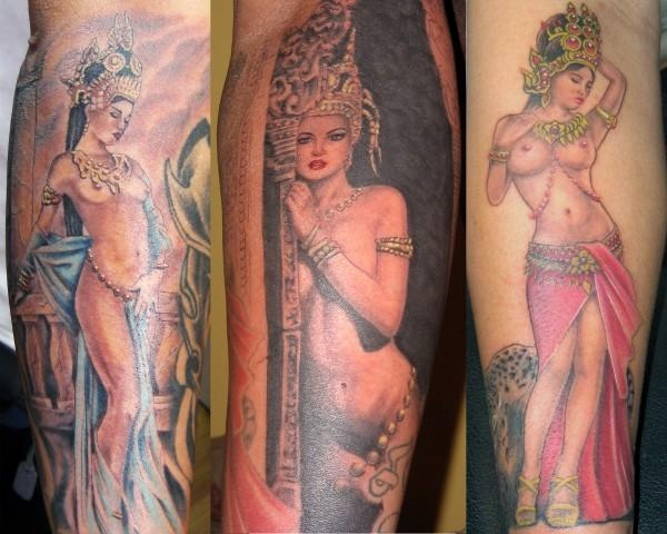 (Apsara) Khmer tattoo by Bandit.