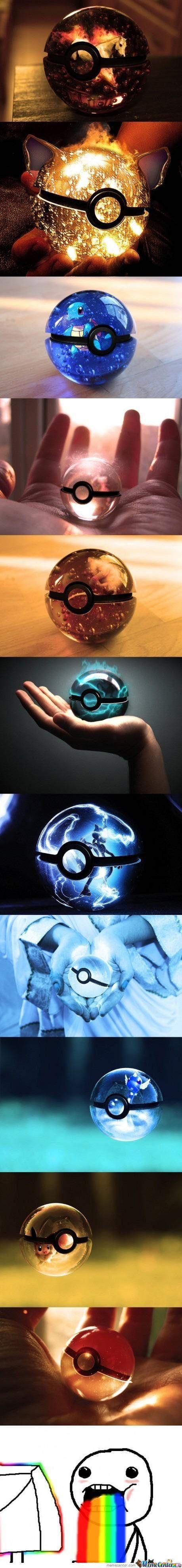 Las pokeball trasparentes (sueño de todo fan de pokemon como yo)