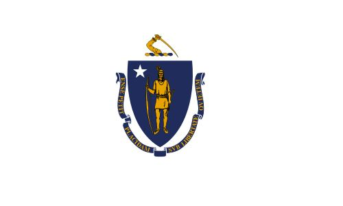 The state flag of Massachusetts.