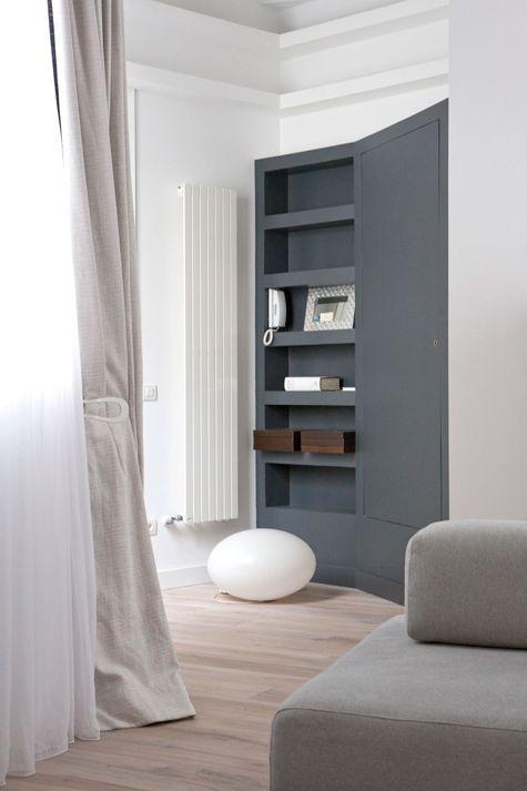 Simple: Radiator Interiors, Simple Interiors, Grey Colors, Interiors Colors, Interiors Design, Book Shelves, Interiors Originals, Colour Palettes, Jorge Rangel