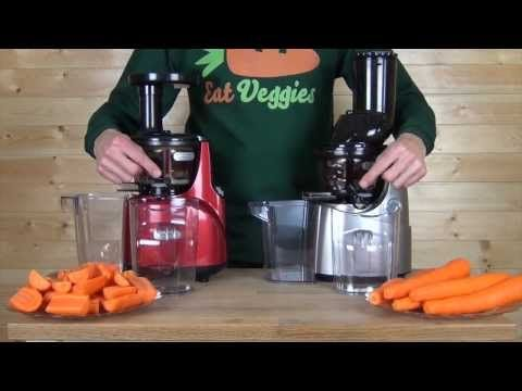 Juicing Carrots comparing the two upright juicers Kuvings Whole Slow Juicer & Kuvings Silent ...