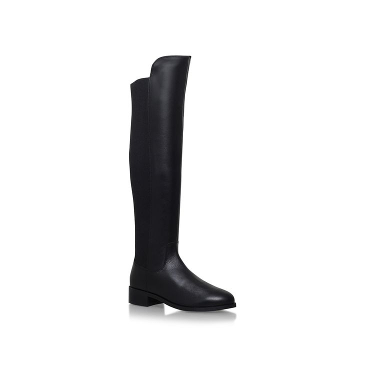 PACIFIC Leather Black Knee High Boot by CARVELA KURT GEIGER