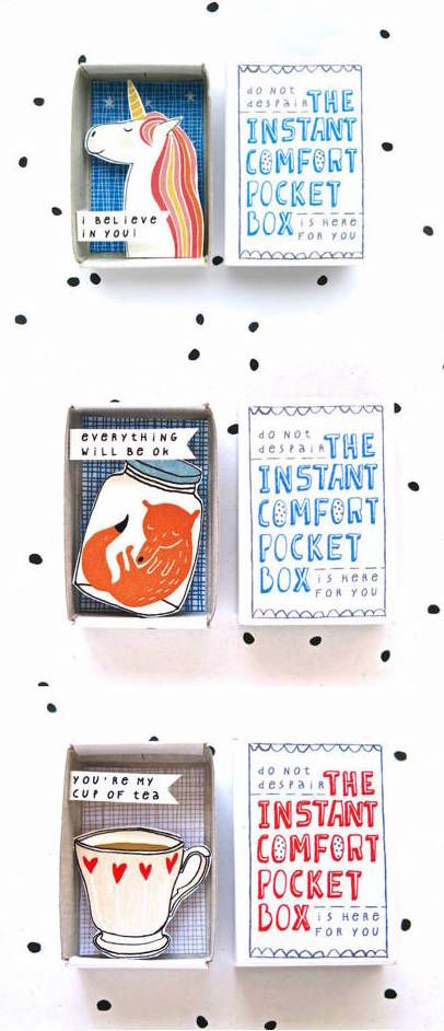 Having a blue moment? The Instant Comfort Pocket Box is here for you!