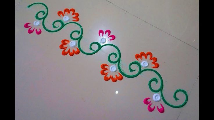 Very small rangoli design, rangoli border.