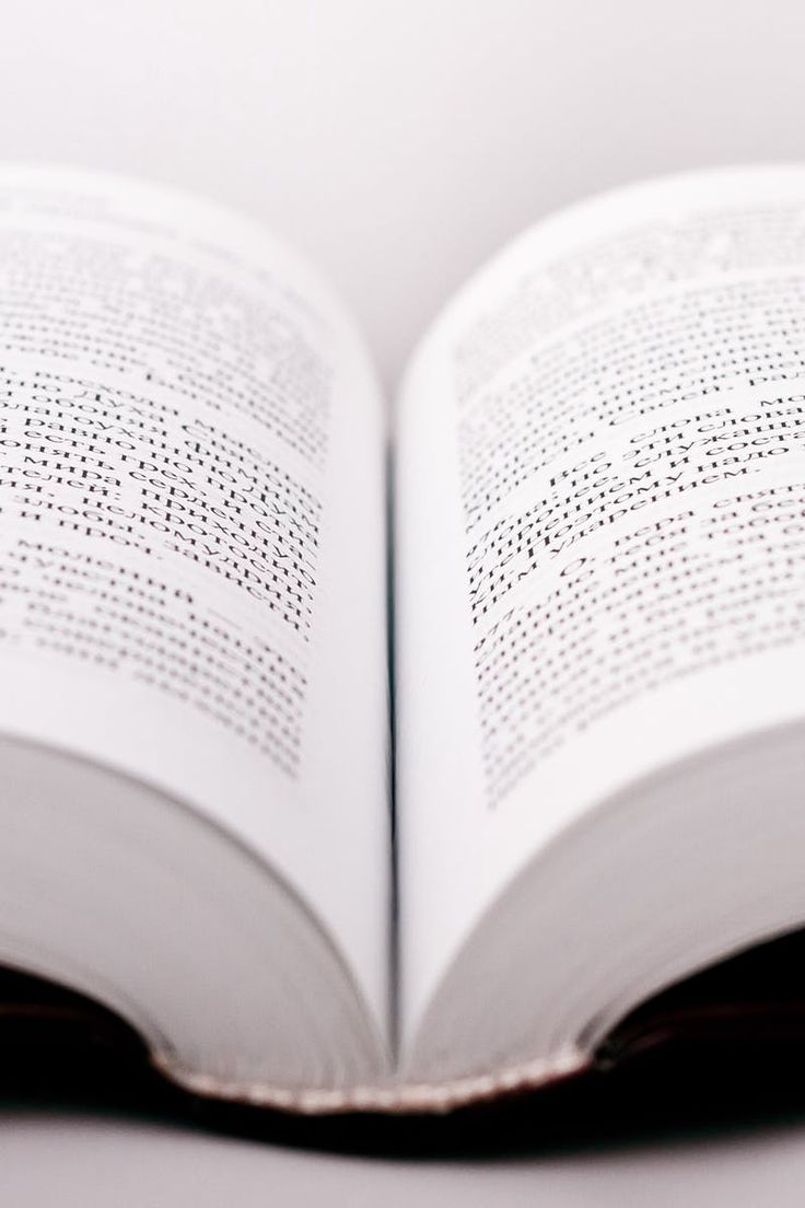 White Open Book Page