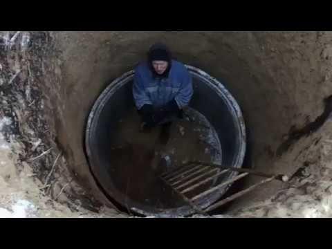 Выгребная яма из бетонных колец. Этапы строительства