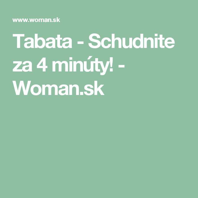 Tabata - Schudnite za 4 minúty! - Woman.sk