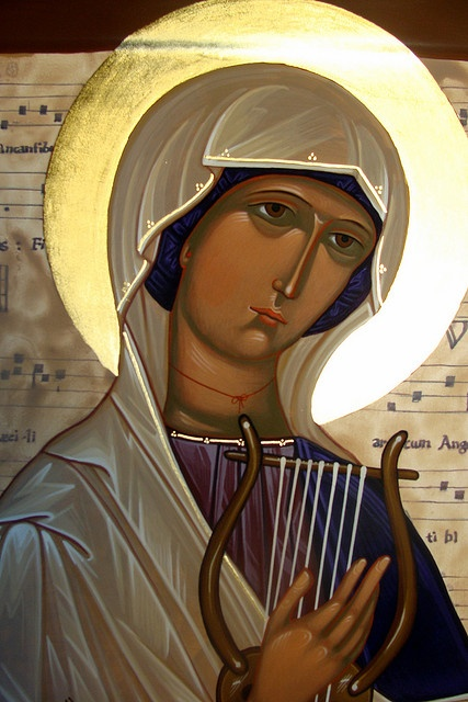 Name of the Day: Silke Jóna. Girl. Baptismal name: Silke, for the Holy Virgin Martyr Cecilia. Name Day: November 22. icon by iconguy1, via Flickr