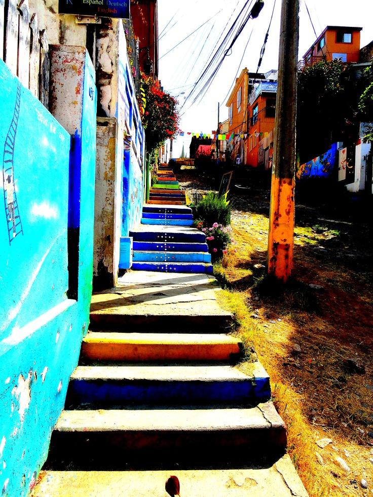#stairs #colorfull VALPARAISO, Patrimonio nacional