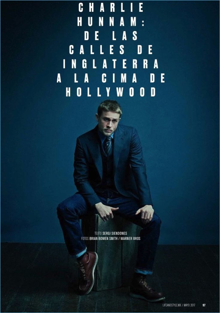 Charlie Hunnam graces the pages of Life and Style magazine.