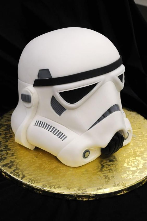 Star Wars cake -Storm Trooper - For all your cake decorating supplies, please visit craftcompany.co.uk