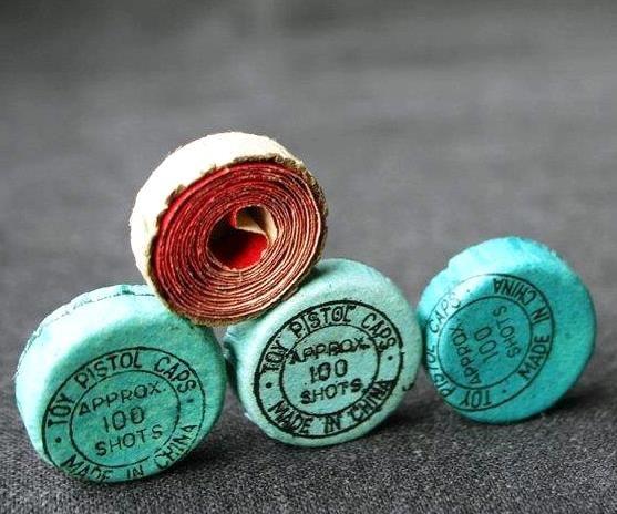Rolls of caps for toy gun