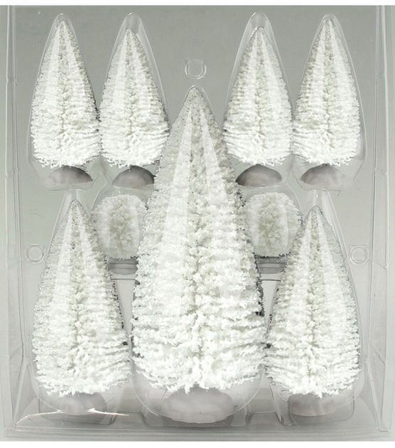 joann Fabric- Holiday Inspirations Trees Value Pack Set of 9 White $9.99