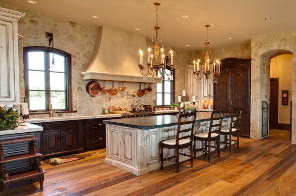 15 Stunning Mediterranean Kitchen Designs Home Design Lover Stone Kitchen Design Mediterranean Kitchen Mediterranean Homes
