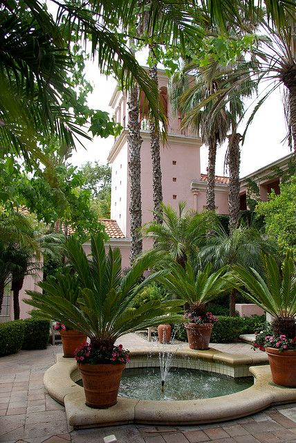 Hotel Bel Air - inner courtyard & tower
