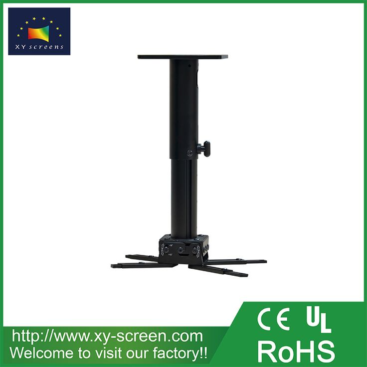 XYSCREEN Retractable Projector Ceiling Mount 100cm Bracket Wall Hanging  Mount Kit