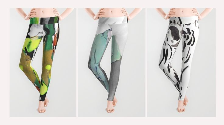 Hi! Jump start spring with some cool leggings!  Special offers until March 6, 2016 at Midnight Pacific Time, also on shirts and prints. All design made of original watercolor paintings.  #shopping #fashion #homedecor