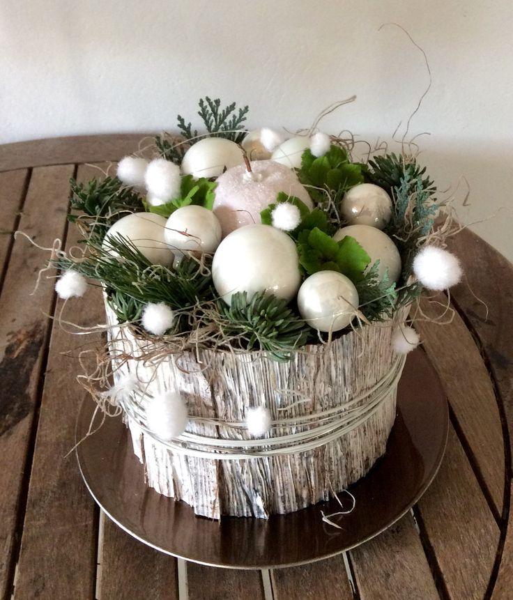 .Tafeldecoratie kerst wit.