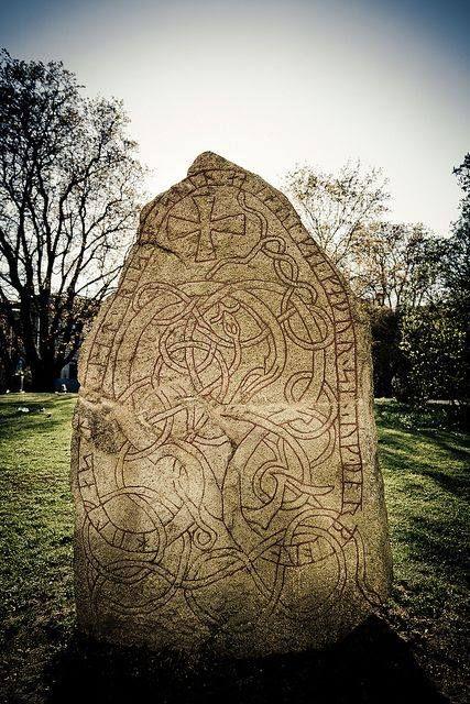 Runic stone, Uppsala, Sweden