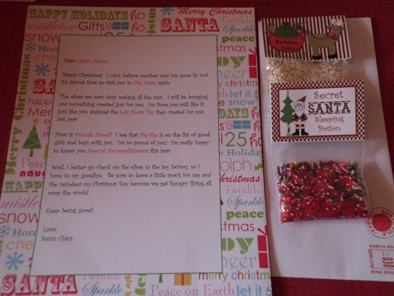17 best images about stacie on pinterest sprinkles for Personalized letter from santa with reindeer food