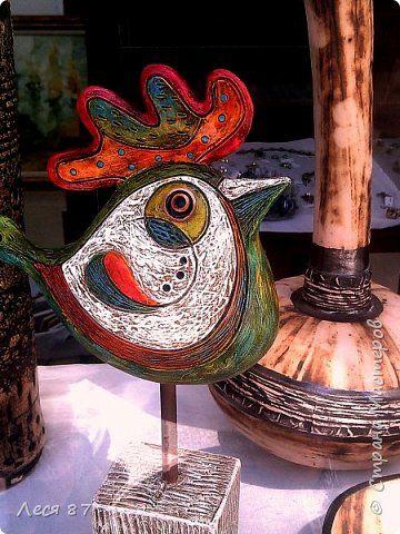 Декор предметов Поделка изделие Лепка Папье-маше Птица из папье-маше и несколько…