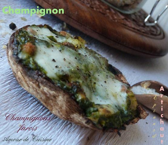 champignons farcis - Amour de cuisine