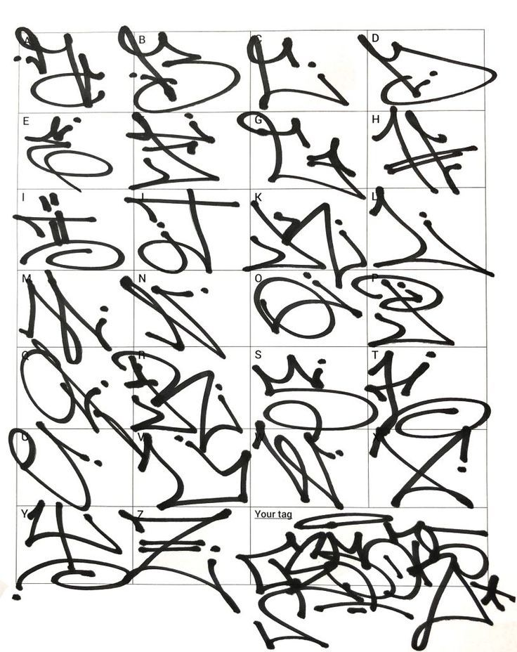 Notitle Schriftarten Graffiti Abecedario Tipos De Letras