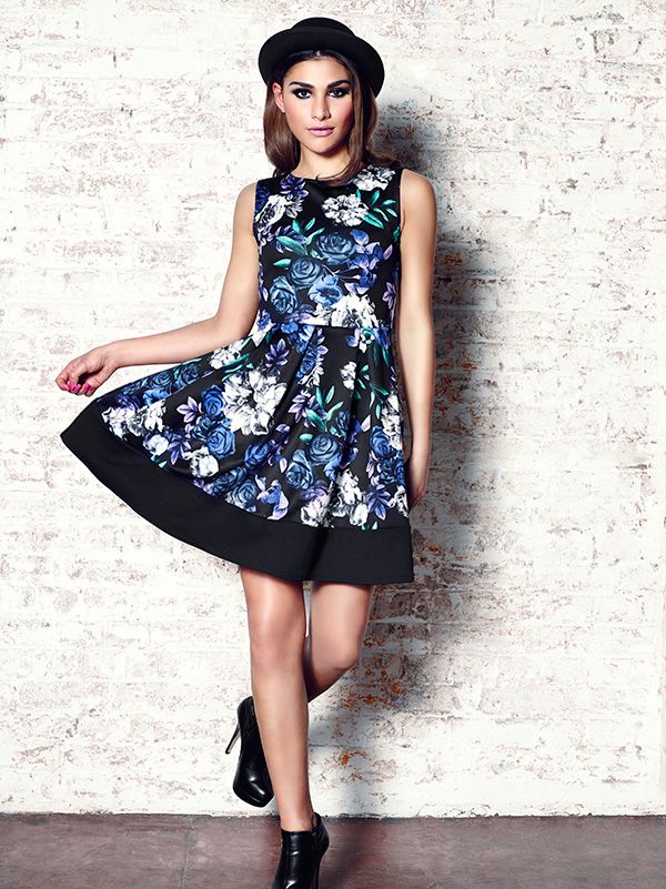 #florals #dress #fashion #ootd #model #skaterdress #quizclothing