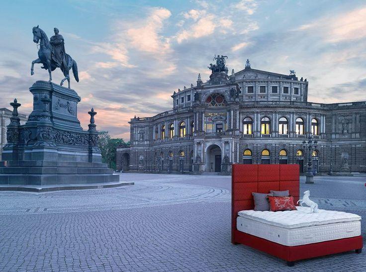 Treca Interiors Paris bed in the streets of Dresden, Germany