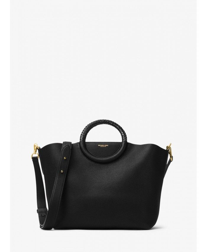 d128e93563f2 Michael Kors Black Skorpios Leather Market Bag 31H6MSKT3L-0001 ...