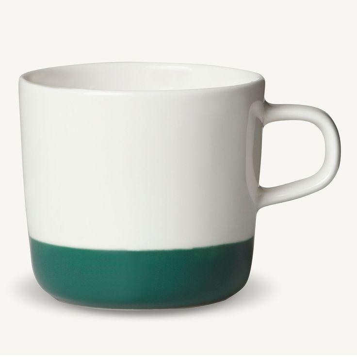Puolikas Kaffekopp 20cl, Vit/Grön, Marimekko