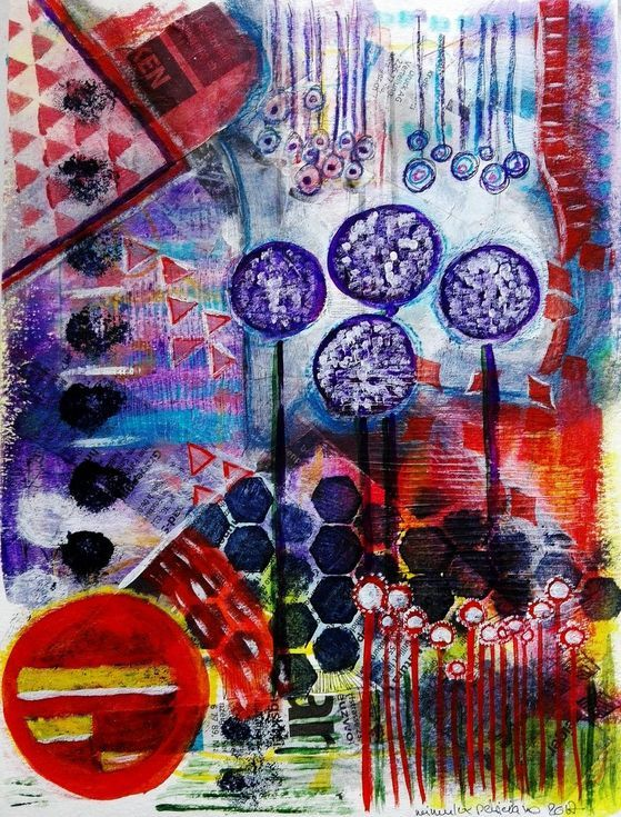 Buy Purple and Red Fantasy, Mixed Media painting by mimulux patricia no on Artfinder. Discover thousands of other original paintings, prints, sculptures and photography from independent artists.