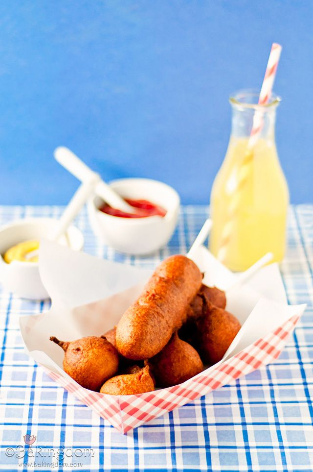 Homemade Corn Dogs by @Bakingdom