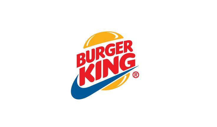 Sportswear x Fast Food logo design mashup: Burger King x Nike #logo #mcdonalds #nike #adidas #fila #burgerking #dunkindonuts #kfc #champion #underarmour #subway #puma #jordan #pizzahut #dominos #fila