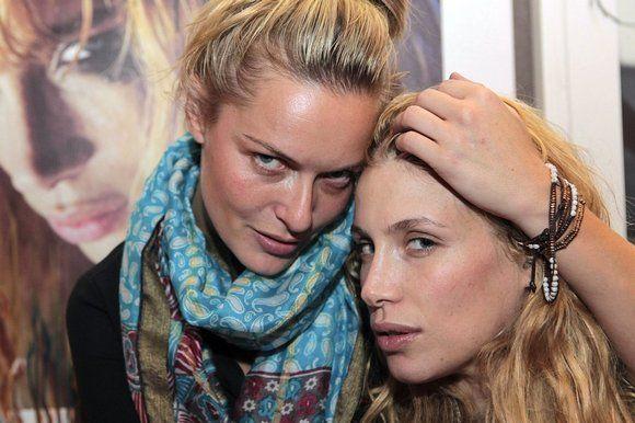 Marie de Villepin, right, with the Danish actress Rie Rasmussen